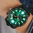 זול שעוני גברים-בגדי ריקוד גברים שעון דיגיטלי דיגיטלי סיליקוןריצה שחור / לבן / כחול יצירתי עיצוב חדש זוהר בחושך אנלוגי מדבקות עם נצנצים יום יומי - אדום ירוק כחול