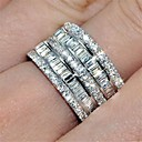 cheap DIY Parts and Tools-Women's Cubic Zirconia Classic Ring Eternity Band Ring spinning ring Fashion Ring Jewelry Silver For Party Daily 6 / 7 / 8 / 9 / 10