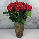 رخيصةأون أزهار اصطناعية-زهور اصطناعية 12 فرع كلاسيكي الحديث المعاصر أوروبي الورود أزهار الطاولة