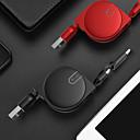 Χαμηλού Κόστους Smart Plug-Micro USB / Τύπος-C Καλώδιο 1m-1.99m / 3ft-6ft Επίπεδο / 1 ως 2 / Υψηλής Ταχύτητας TPE / ABS + PC Προσαρμογέας καλωδίου USB Για Samsung / Huawei / LG