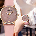 cheap Necklaces-Women's Quartz Watches Bangle Elegant Black Blue Red PU Leather Chinese Quartz Gray Dark Navy Rose Red Chronograph Cute Casual Watch 1 pc Analog One Year Battery Life / SSUO 377