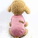 رخيصةأون ملابس وإكسسوارات الكلاب-كلاب سترة ملابس الكلاب لون سادة رمادي زهري كاكي أقمشة مبطنة كوستيوم من أجل ربيع & الصيف الشتاء للجنسين الدفء سلك ظفيرة