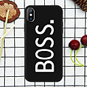 abordables Coques d'iPhone-Coque Pour Apple iPhone XR / iPhone XS Max Motif Coque Mot / Phrase Flexible TPU pour iPhone XS / iPhone XR / iPhone XS Max