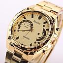ieftine Ceasuri Bărbați-Bărbați Ceas Elegant Quartz Oțel inoxidabil Auriu Rezistent la Șoc Ceas Casual Analog Lux Modă - Auriu Un an Durată de Viaţă Baterie