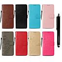 저렴한 갤럭시 J 시리즈 케이스 / 커버-케이스 제품 Samsung Galaxy Note 9 / Note 8 지갑 / 카드 홀더 / 스탠드 전체 바디 케이스 버터플라이 하드 PU 가죽 용 Note 9 / Note 8 / Note 5