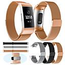 baratos Pulseiras para Fitbit-faixa de relógio para fitbit carga 3 / carga 3 se / especial editon fitbit milanese laço pulseira de metal