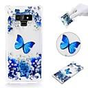 ieftine Bijuterii de Păr-Maska Pentru Samsung Galaxy Note 9 / Note 8 Anti Șoc / Transparent / Model Capac Spate Fluture Moale TPU
