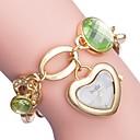 ieftine Ceasuri Damă-ASJ Pentru femei Ceas Elegant ceas de aur Japoneză Quartz Alb / Auriu Ceas Casual Analog Heart Shape Elegant - Auriu Argintiu Un an Durată de Viaţă Baterie / SSUO SR626SW