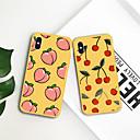 olcso iPhone tokok-Case Kompatibilitás Apple iPhone XR / iPhone XS Max Minta Fekete tok Gyümölcs Puha TPU mert iPhone XS / iPhone XR / iPhone XS Max