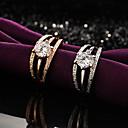 ieftine Inele-Pentru femei Zirconiu Cubic Inel Stilat Inele la Modă Bijuterii Argintiu / Maro deschis Pentru Zilnic