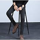 رخيصةأون بدلات-رجالي أناقة الشارع قياس كبير بدلة بنطلون - لون سادة أزرق أسود رمادي 34 36 38