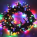 ieftine Fâșii Becurie LED-10m Fâșii de Iluminat 50 LED-uri 1Setați suportul de montare Alb Cald / Alb Rece / RGB Rezistent la apă / Solar / Petrecere Λειτουργεί με Ηλιακή Ενέργεια 1set