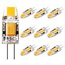 رخيصةأون أساور-10pcs 2 W أضواء LED Bi Pin 120 lm G4 T 1 الخرز LED COB ديكور محبوب أبيض دافئ 12 V