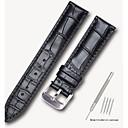 رخيصةأون قيود ساعات-جلد أصلي / جلد / شعر العجل حزام حزام إلى أسود / بني 17CM / 6.69 بوصة / 18cm / 7 Inches / 19cm / 7.48 Inches 1.4cm / 0.55 Inches / 1.6cm / 0.6 Inches / 1.8cm / 0.7 Inches