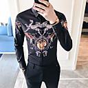billige T-skjorter og singleter til herrer-EU / USA størrelse Skjorte Herre - Geometrisk, Trykt mønster Hvit XL
