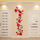 billige Dekorationsklistermærker-Dekorative Mur Klistermærker - 3D mur klistermærker Blomstret / Botanisk Indendørs
