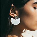 ieftine Cercei-Pentru femei Cercei Stud Cercei Rotunzi Cercei Bucurie Fericit Simplu La modă Modă Modern cercei Bijuterii Auriu / Argintiu Pentru Zilnic Stradă Ieșire Birou și carieră Măr 1 Pair