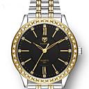 ieftine Cuarț ceasuri-Pentru femei Quartz Quartz Oțel inoxidabil Argint Rezistent la Apă imitație de diamant Analog - Digital Modă Plin de Culoare - Alb Negru Mov