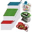 ieftine Ustensile de Gătit-1pcs plasă reutilizabilă produce saci pungi lavabile pentru magazin de cumpărături de fructe fructe jucării legume jucării plicuri organizator pungă de depozitare