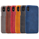 cheap iPhone Cases-Case For Apple iPhone XS Max / iPhone 6 Shockproof Back Cover Solid Colored Hard PU Leather for iPhone XS / iPhone XR / iPhone XS Max