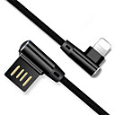 abordables Cables y Adaptadores para iPhone-Iluminación Cable Carga rapida Nailon Adaptador de cable USB Para iPhone