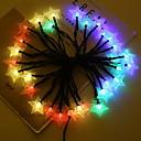 baratos Fitas e Mangueiras de LED-4m Cordões de Luzes 20 LEDs Multicolorido Solar / Decorativa Baterias AA alimentadas 1conjunto