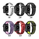 Χαμηλού Κόστους Θήκες / Καλύμματα Galaxy J Series-Παρακολουθήστε Band για Apple Watch Series 5/4/3/2/1 Apple Αθλητικό Μπρασελέ σιλικόνη Λουράκι Καρπού