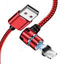 abordables Cables y Adaptadores para iPhone-Adaptador de cable USB de rayos trenzado / cable de carga rápida para iphone 100 cm para acetato / nylon / luminiscente