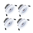 cheap Bathroom Gadgets-ZDM 4PCS 3x2W 450-550 lm 3 LED Beads Dimmable LED Downlights Warm White Cold White Natural White Cabinet Ceiling Showcase / AC220V AC12V
