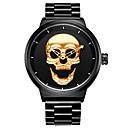 levne Pánské-HANNAH MARTIN Pánské Digitální hodinky Křemenný Nerez Černá 30 m Cool Analogové Czaszka - Zlatá Černá Jeden rok Životnost baterie