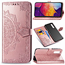 cheap Galaxy A Series Cases / Covers-Case For Samsung Galaxy Galaxy A50(2019) Wallet / Card Holder / Flip Full Body Cases Flower Hard PU Leather / TPU for Galaxy A7(2018) / Galaxy A9(2018) / Galaxy A10(2019)