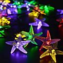ieftine Perne-6,8 Fâșii de Iluminat 30 LED-uri Multicolor Solar / Decorativ Λειτουργεί με Ηλιακή Ενέργεια 1set