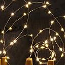 رخيصةأون أضواء شريط LED-2.5M أضواء سلسلة 10 المصابيح أبيض دافئ 220-240 V 1SET