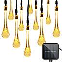 ieftine Fâșii Becurie LED-1 set led lanterna solare lumina 5m 20 benzi luminoase picături de apă misterioase picături de apă picături de bule lumini impermeabile în aer liber