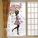 رخيصةأون الستائر-زهرة فتاة فيلم البلاستيكية القابلة للإزالة النافذة&ampamp، ampamp، حلية، الزخرفة، هندسي