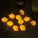 baratos Fitas e Mangueiras de LED-3,3 m Cordões de Luzes 20 LEDs Branco Quente Decorativa Baterias AA alimentadas 1conjunto
