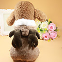 Недорогие Средства индивидуальной защиты-Собака Платья Одежда для собак Кофейный Хлопок Костюм Назначение Лето Жен. Свадьба
