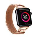 billige Apple Watch-remmer-for Apple Watch band 44mm / 40mm / 38mm / 42mm kvinners stropp diamantbånd for Apple Watch serien 4/3/2/1 iwatch armbånd rustfritt stål d Word Chain