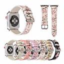 abordables Correas para Apple Watch-Correa de reloj de cuero flor de ciruelo para reloj de Apple 44mm / 40mm / 38mm / 42mm pulsera con estampado de flores para iwatch series 1 2 3 4 accesorios