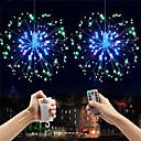 ieftine Set Becuri-0.3m explozie stele focuri de artificii efect LED-uri decorative șir 150 LED-uri smd 0603 1 13 chei telecomandă caldă alb / alb / multi culoare impermeabil / partid / baterii decorative powered 2pcs