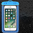 Недорогие Защитные пленки для iPhone SE/5s/5c/5-Кейс для Назначение универсальный Универсальный Защита от влаги Водонепроницаемый мешочек Однотонный Мягкий PVC