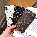 رخيصةأون أساور ساعات هواتف أبل-غطاء من أجل Apple iPhone XR / iPhone XS Max / iPhone X نموذج غطاء خلفي نموذج هندسي قاسي جلد PU