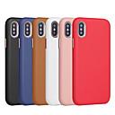 رخيصةأون أغطية أيفون-الحال بالنسبة لتفاح iphone xr / iphone xs max متجمد الغطاء الخلفي الصلبة الملونة لينة بو الجلود ل فون x xs 8 8 زائد 7 7 زائد 6 6 ثانية 6 زائد 6 ثانية زائد