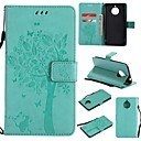 ieftine Carcase / Huse de Motorola-Maska Pentru Motorola Moto E4 Plus Portofel / Titluar Card / Întoarce Carcasă Telefon Copac / Floare Greu PU piele