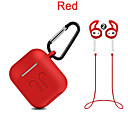 cheap iPhone Cases-silicone cover case + carabiner hook + anti-lost earphone strap + ear tips set for apple airpods