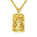 رخيصةأون القلائد-رجالي قلائد الحلي هندسي بوذا موضة زركون مطلية بالذهب ذهبي 61 cm قلادة مجوهرات 1PC من أجل هدية مناسب للبس اليومي