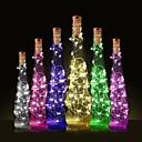 رخيصةأون مصابيح ليد مبتكرة-1PC زجاجة النبيذ سدادة الصمام ليلة الخفيفة أبيض دافئ الديكور / مصباح الجو