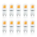 ieftine Becuri LED Corn-loende 10 pachet g9 led bec 4w 300lm ac110-130v 200-240v dimming cob lampă led alb / cald alb