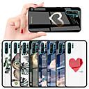 رخيصةأون Huawei أغطية / كفرات-غطاء من أجل Huawei Huawei P20 / Huawei P20 Pro / Huawei P20 lite ضد الصدمات / نموذج غطاء خلفي قلب / سماء / زهور قاسي TPU / زجاج مقوى