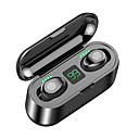 cheap True Wireless Earbuds-Z-YeuY F9 TWS True Wireless Stereo Earbuds IPX5 Waterproof Touch Mini Bluetooth 5.0 Charging Bin Stealth Sports High Sound Quality Noise Reduction